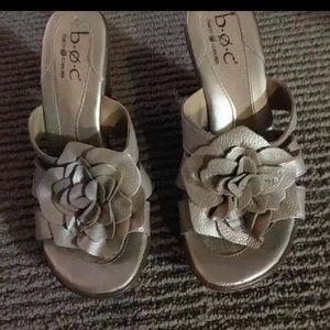 Born Leather Flower Heels